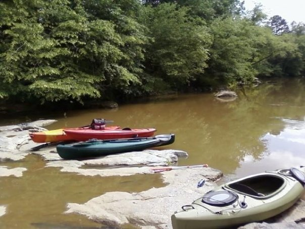 Canoeing on the Catawba River