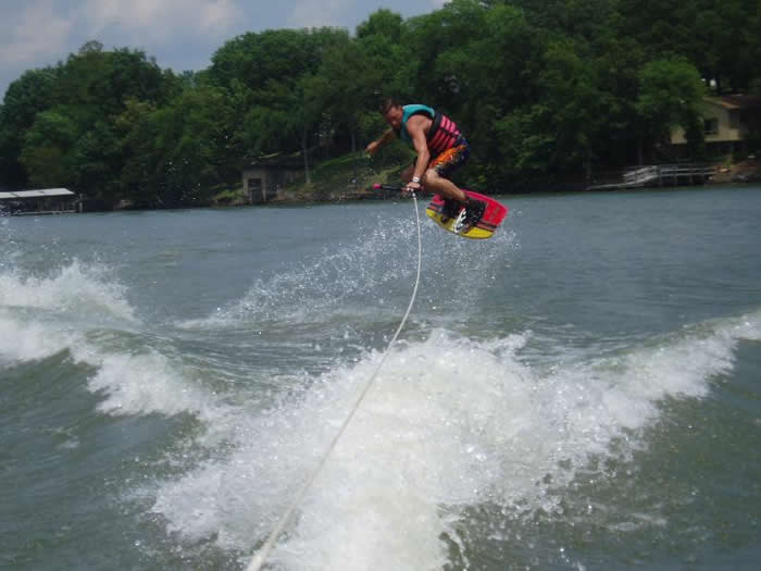 Water skiiing on Lake Wylie