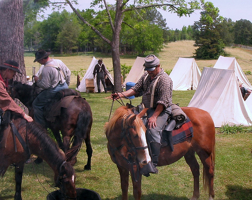 Reenactment at Cross Keys