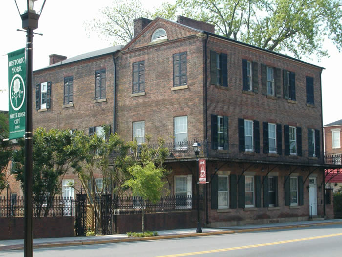 The Latta House in historic downtown York